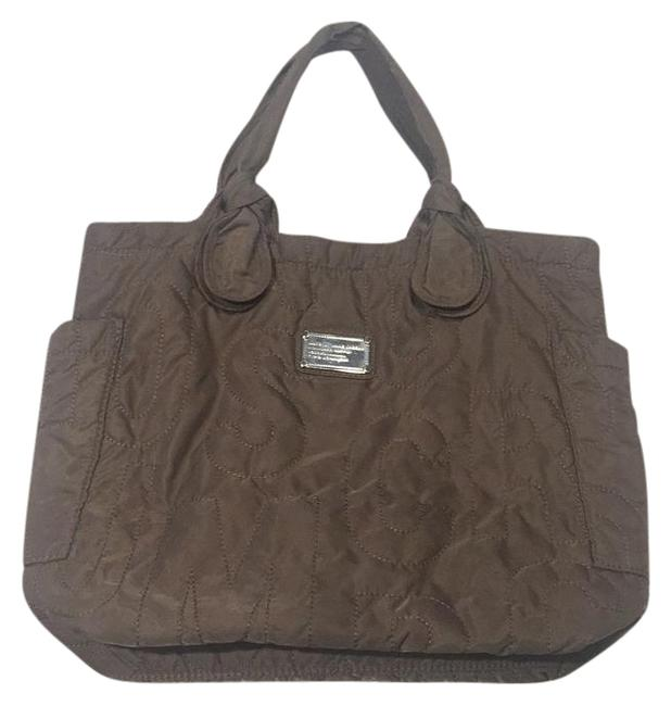 Item - Pretty Quilted Taupe Nylon Tote