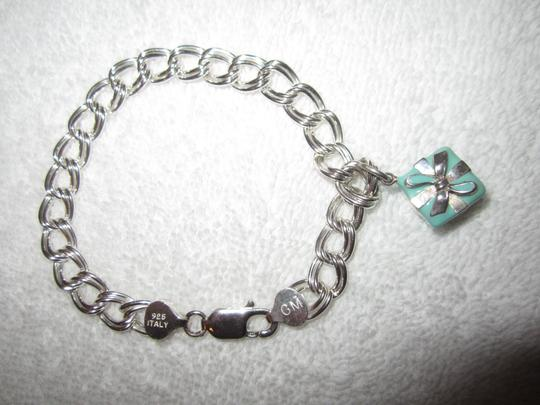 Tiffany & Co. Tiffany Blue Box Charm + Bracelet Sterling Silver + 925 2-Link Italy