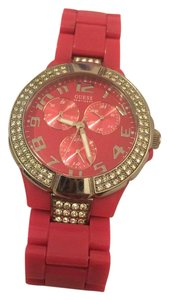 Guess Fun hot pink watch with rhinestones