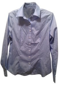 Ellen Tracy Button Down Shirt Light Blue