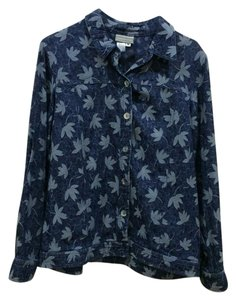 Coldwater Creek blue multi Womens Jean Jacket