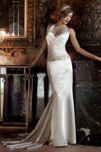 Galina Ivory Silk Signature Sexy Wedding Dress Size 2 (XS)