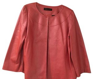 Dana Buchman Coral Leather Jacket