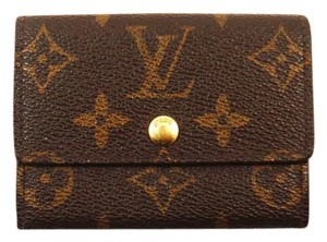Louis Vuitton Monogram Porte-Monnaie Plat Coin Change Purse Wallet France
