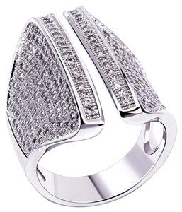 Cubic Zirconia Pave Silver Ring [SHIPS NEXT DAY]