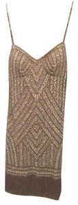 Aidan Mattox Vintage Sequins Fringe Dress