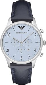 Emporio Armani Emporio Armani AR1889 Men's Blue Chronograph Leather Watch NEW!