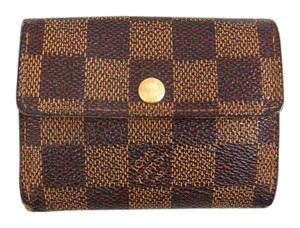 Louis Vuitton Damier Ebene Credit Receipt Coin Mini Wallet France