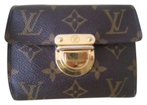 Louis Vuitton Authentic Louis Vuitton Classic Monogram Koala 9 Credit Card+1 ID Coin Wallet