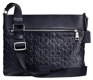 Coach Leather Sam Crossbody Midnight & Silver Messenger Bag