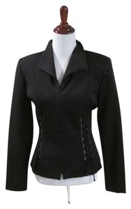 Cache Jacket Zip Collar Trendy Black Blazer