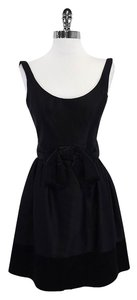 MILLY short dress Black Scoop Neck Fit & Flare on Tradesy