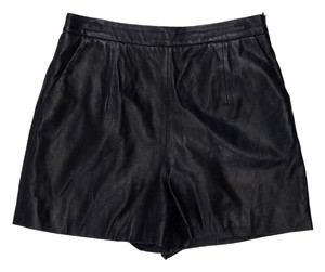 MILLY Black Leather Shorts