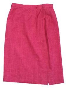 Escada Pink Silk Linen Skirt