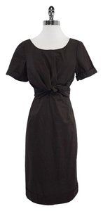 Max Mara short dress Brown Cotton Wrap on Tradesy