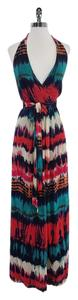 Maxi Dress by MILLY Multi Color Tie Dye Silk Maxi