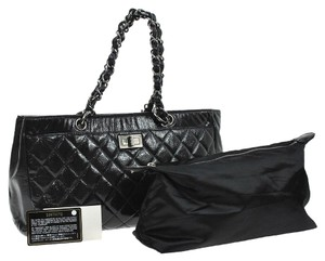Chanel Reissue Tote in Black Diamond Shine Caviar