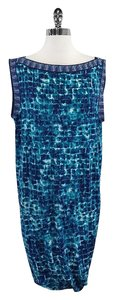 BCBGMAXAZRIA short dress Blue Print Sleeveless on Tradesy