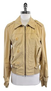 Theory Tan Cotton Zip Jacket