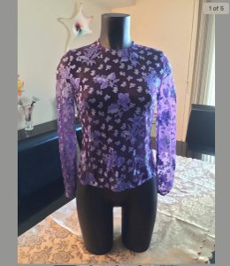 Versace Top Purple and multi-color