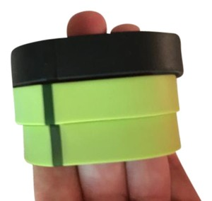 fitbit Black and Green Bands