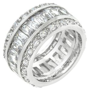 Other Triple Row White Cubic Zirconia Eternity Ring
