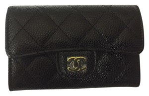 Chanel Chanel Card Holder in Gold Hardware