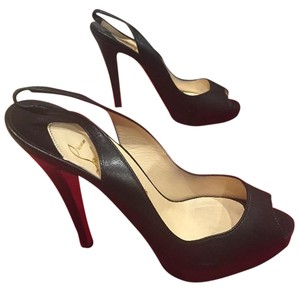 Christian Louboutin Sling Patent Leather Black Pumps