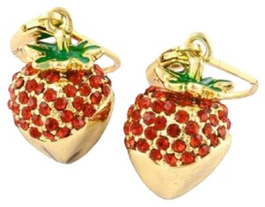 Kate Spade Kate Spade Out Of The Box Strawberry Drop Earrings