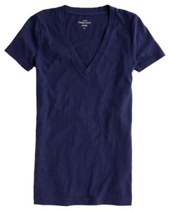 J.Crew Vneck Cotton Soft T Shirt navy