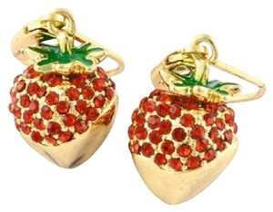 Kate Spade Kate Spade Outside The Box Strawberry Drop Earrings