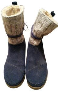 TOMS blue with gray Boots