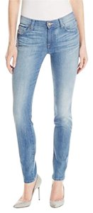 7 For All Mankind Skinny Skinny Jeans-Medium Wash