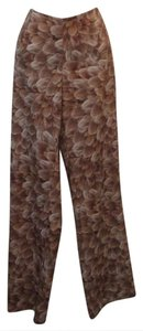 Cache Spring Summer Fall Printed Flare Pants Brown