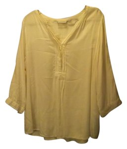 Avenue Comfortable Peasant Loose Fit Top White