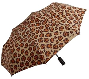 Coach BNWT Coach Umbrella Wild Beast Brown Black Print Automatic New