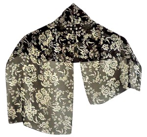 Other NEW 100% silk black/white floral print