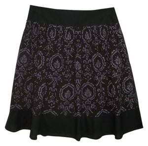 Ann Taylor LOFT French Knits A-line Damask Skirt