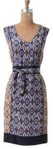 Anthropologie short dress Coquille Silk Ikat Printed on Tradesy