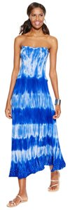Blue Tie Dye Maxi Dress by INC International Concepts Summer Convertible Strapless Maxi
