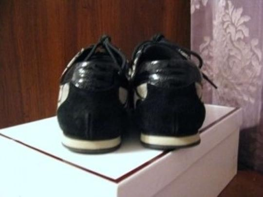 Coach Monogram Patent Leather Sneaker Black Athletic