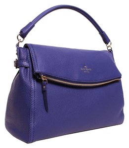 Kate Spade Pebbled Leather Bright Blue Satchel in Atlantic Blue