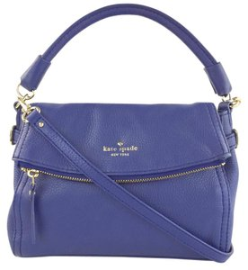 Kate Spade Pebbled Leather Bright Satchel in Atlantic Blue