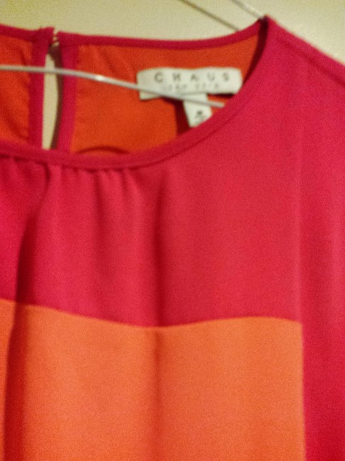 Chaus short dress Hot Pink and Tangerine on Tradesy
