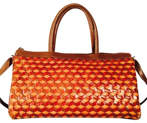 Hobo International Woven Bottega Satchel in Brown