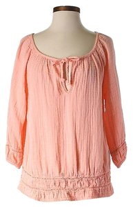 MICHAEL Michael Kors Textured Keyhole Top Pink