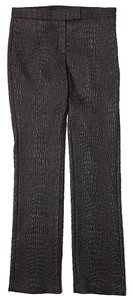 Elie Tahari Textured Low-rise Straight Pants Brown