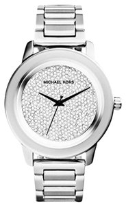 Michael Kors MWOT Kinley Diamond Pave Dial Stainless Steel Watch $350 MK5996