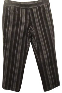 Talbots Capris black with stripes