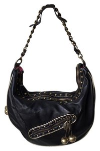Betsey Johnson Cherry Adornment Slouchy Hobo Bag